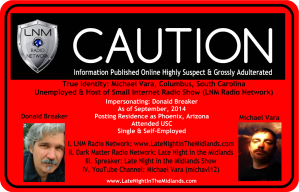 LNM Radio Network-Michael Vara-Late Night In The Midlands-Google Plus Profile Impersonation-Online User Warning-iPredator Alert Image